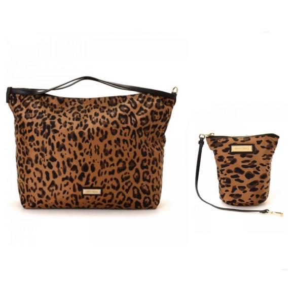 Jimmy Choo Handbags - Jimmy Choo Nylon Leopard Print Tote